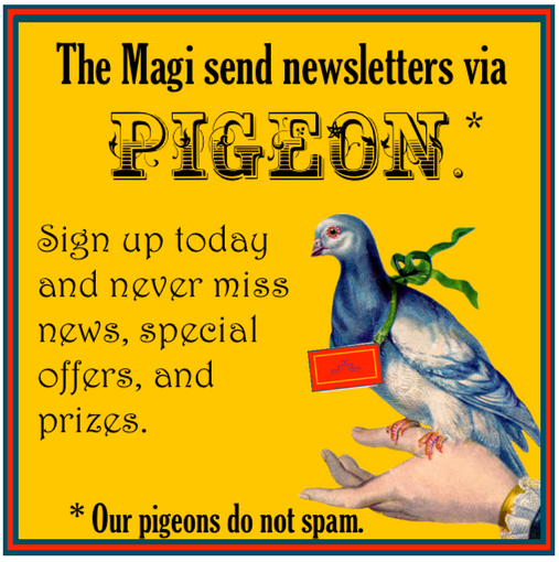 Tickle the Pigeon to Receive the Newsletter